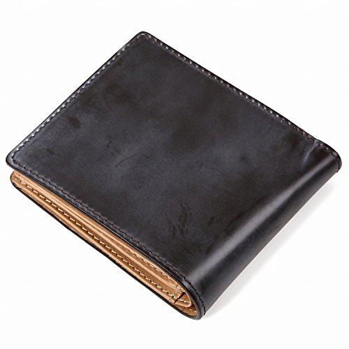 『[ラファエロ] ブライドルレザー 二つ折り財布 メンズ (チョコ)』の8枚目の画像