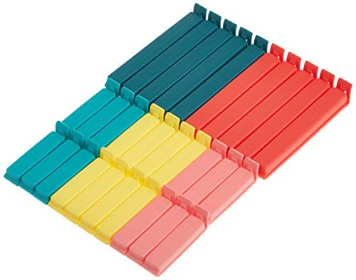 Ikea BEVARA Verschlussklemmen, Verschiedene Größen, Polypropylene, Bunt, 16 x 12 x 3 cm, 30-Einheiten