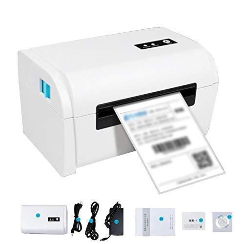 Imprimante D'étiquettes Thermique De Bureau, Imprimante D'étiquettes Thermiques Imprimante De Reçus Thermiques Imprimante De Code À Barres QR Imprimante À Grande Vitesse Bluetooth USB Vitesse 160 Mm/s