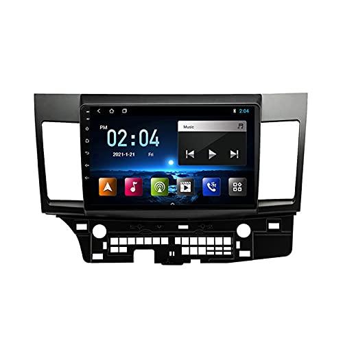 MGYQ Reproductor MP5 para Estéreo Coche, para Mitsubishi Lancer 2010-2018 Radio del Coche con Pantalla Táctil HD Bluetooth USB Soporte FM Radio Control del Volante 1080P Video,Quad Core,4G WiFi 1+32
