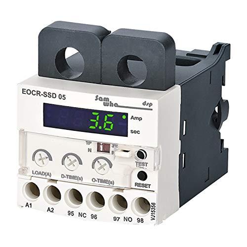 JSJJARF Relé 180-260vac Digital Sobrecarga Electrónica Relé Protector de Motor Relé de sobrecarga térmica Eocr-SSD (Size : 10 120A)