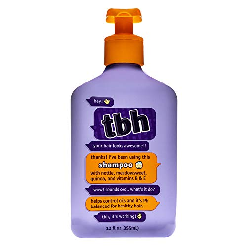 TBH Kids Shampoo - Shampoo for Oily Hair - Sulfate, Paraben Free - 12 oz