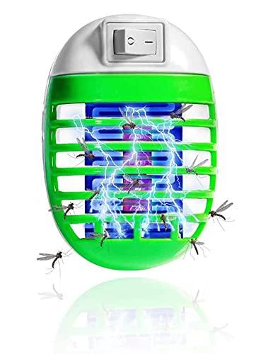 Lampada Antizanzare con Luce UV Alto-efficiente Trappola Zanzare Zanzara Killer Nontossico Elettrico Insetticida Spina EU,100% Sicuro per Persone e Animali
