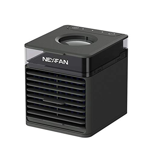 NexFan Aire Acondicionado Portátil, 4 en 1 Enfriador de Aire Ventilador Humidificador, 3 Velocidades, Mini Aire Acondicionado para Hogar Oficina(B)