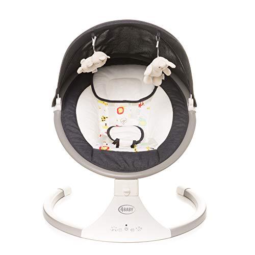 4BABY Columpio eléctrico para niños | Mecedora Bebe Columpio Bebe Balancin Bebe Amaca Bebe Hamaca Bebe Electrica Hamaca Bebe Vibracion Amacas Para Bebes | Rock'n Relax