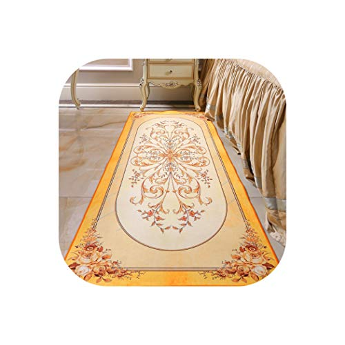New European Printed Carpets Sitting Room Bedroom Bedside Rugs Corridor Kitchen Non-Slip Mats,3,60x160cm