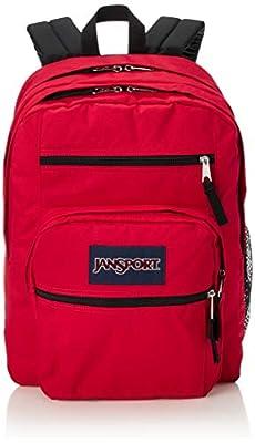 JanSport Big Student Backpack - 15-inch Laptop School Pack - Red Tape