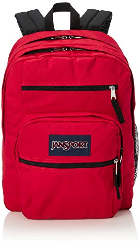JanSport Big Student Backpack - School, Travel, or Work Bookbag with 15-Inch Laptop Compartment, Red Tape