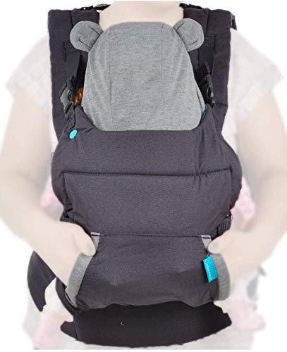 Infantino Cuddle Up Ergonomic Hoodie Carrier, Grey