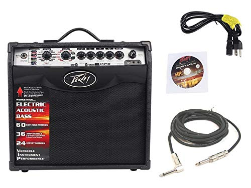 Pevaey Vypyr VIP1 Combo Amp 8' Modeling Electric Guitar 20 Watt Amplifier with 1/4' Instrument Cable Package