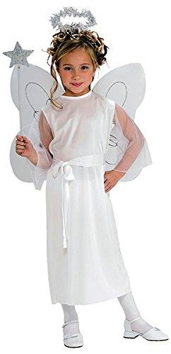 NEW Kids Crèche de Noël Noël robe écharpe ailes d'ange et Halo filles Costume
