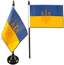 mini drapeau 10 x 15 cm Digni Drapeau de table Ukraine avec Blason