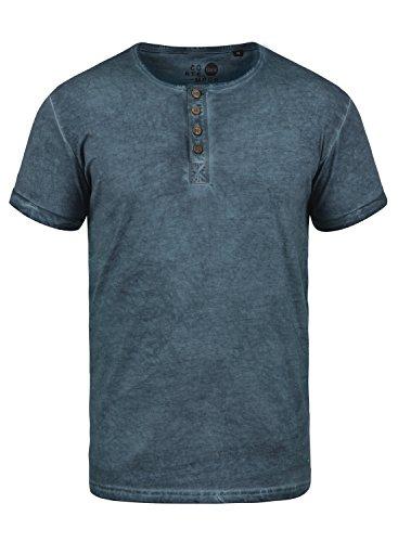 !Solid Tihn Camiseta Básica De Manga Corta T-Shirt para Hombre con Cuello Grandad De 100% algodón, tamaño:S, Color:Insignia Blue (1991)