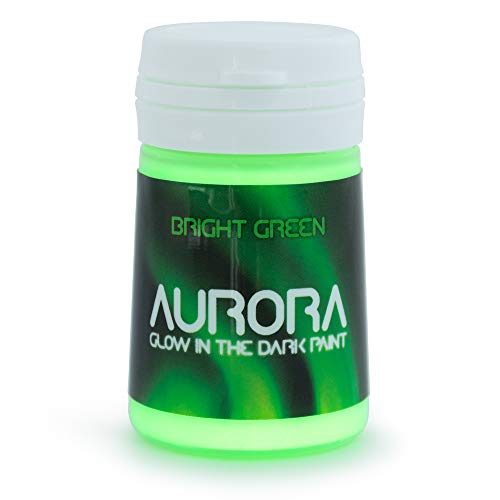 Glow in The Dark Paint (20ml) Aurora Bright Green, Non-Toxic, Water Based, by SpaceBeams