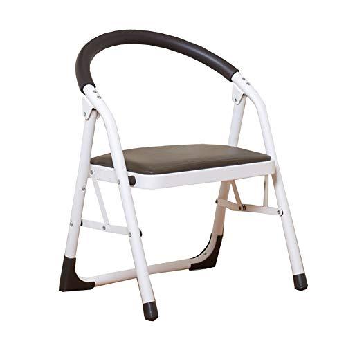 GBX Escalera Plegable, Cocina 2 Step Stool Sillas para Adultos Niños Pequeños Hierro Plegable Antideslizante Escalera Portátil Escabel/Escalera/Estante de Almacenamiento/Flor Estante Duradero,N