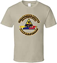 XLARGE - Army - Ssi - 10th Armored Division - Europe - Wwii T Shirt - Tan