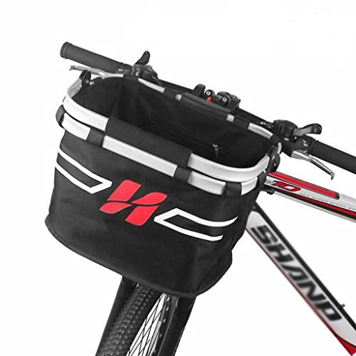 Great Deal! QAZWC-A1 Bike Basket, Foldable Small Pet Cat Dog Carrier Front Removable Bicycle Handleb...