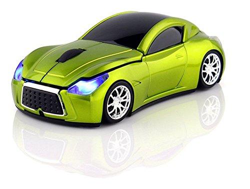 Klein Design FTD-MS127 Auto Style optische Maus/Mouse schnurlos/Wireless grün
