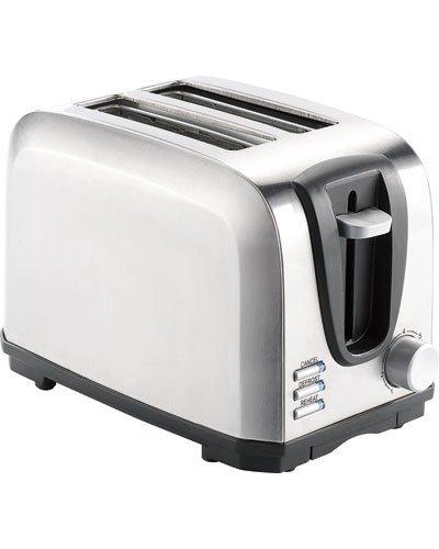 Rosenstein & Söhne Brottoaster: Edelstahl-Toaster für 2 Scheiben, 650 W (Automatik-Toaster)