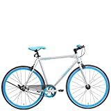 Firefox Bikes Flip-Flop Fixie 26T Single Speed Hybrid Cycle (Silver/Blue)