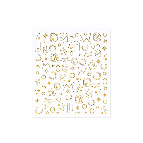 Nagelaufkleber Diy Dekoration Net Red Sticker Explosion Star Moon Adhesive Magic Gold 3D Nail Art Foil Aufkleber Nagelfolie Tape Klebefolien Nailart Abziehbilder Nagel Nagelstudio