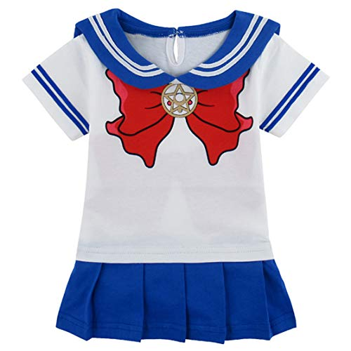 Sailor Moon Vestito per Bambina Costumi Cosplay Marinaio Neonata Body Estivo Princess Dress up 0-18 Mesi