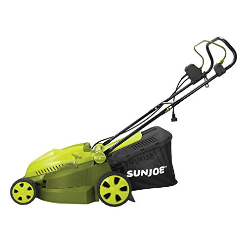 MJ402E Mow Joe 16-Inch 12-Amp Electric Lawn Mower+Mulcher
