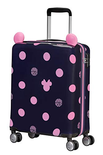 Samsonite Color Funtime Disney - Spinner S Valigia per Bambini, 55 cm, 35 L, Blu (Minnie Pink Dots)