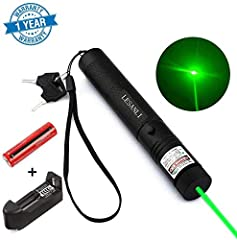 Super bright green light pointer: remove the cap, you can see the light rail even in mid-day, it can even light a match. Different patterns: you can see different patterns when rotate cap, it can bring you or your pet interesting play. Safe child loc...
