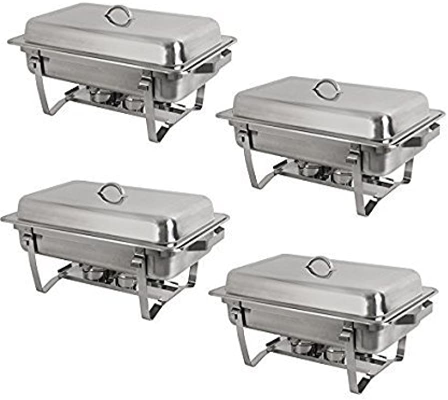 8 Quart Stainless Steel Chafer Full Size Chafer Chafing Dish Buffet Set W Water Pan Food Pan Fuel Holder And Lid For Catering Warmer Set Rectangular