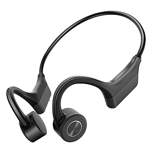 Cuffie Conduzione Ossea, WANFEI Bluetooth 5.0 Wireless Auricolari a Conduzione Ossea Fili Open-Ear Hi-Fi Stereo con Microfono Cuffie Sport Ultraleggero per Ciclismo in Esecuzione Palestra