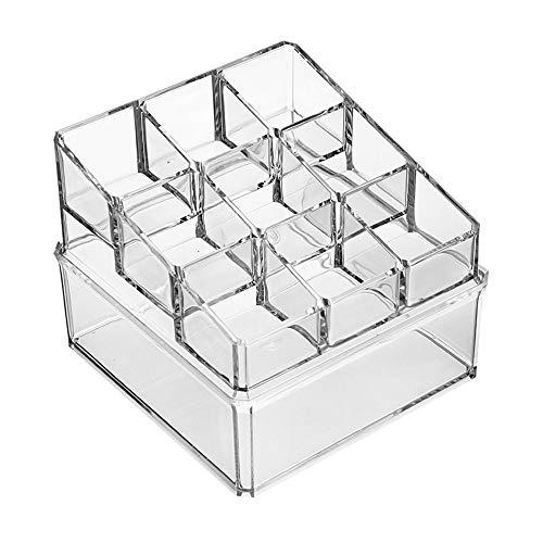 NIBABA Caja de Almacenamiento Transparente Almacenamiento Transparente Mini Lindo Caja de algodón Caja de algodón cosmético Caja de lápiz Labial Rack Accesorios de Almacenamiento de Joyas