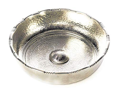 Carenesse Hamamschale - Wasserschale - Tas - Kupfer verzinnt - klein, Dekoschale, Durchmesser 16 cm