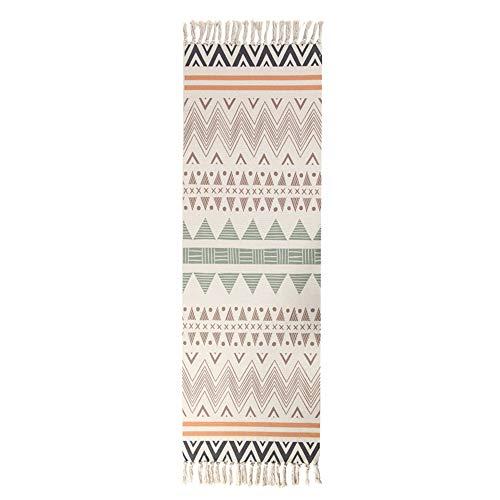 DYY Baumwoll-Fußmatte, Vintage, einfarbig, Tapisserie, handgefertigt, Teppich, Arbeitszimmer, Schlafzimmer, Sofakissen, A_2, 60 x 180 cm