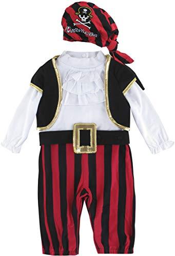 MOMBEBE COSLAND Baby Jungen Pirat Halloween Kostüme Strampler (0-6 Monate, Rot)