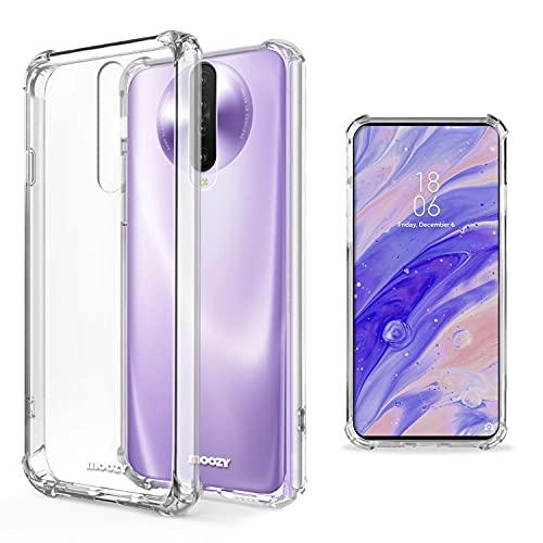 Moozy Transparent Silikon Hülle für Xiaomi Redmi K30 - Stoßfest Klar TPU Hülle Handyhülle Schutzhülle