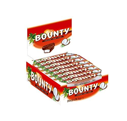 Bounty Schokoriegel | Zartherb, Kokos | 24 Riegel in einer Box (24 x 57 g)