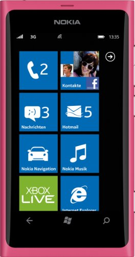 Nokia Lumia 800 Smartphone (9,4 cm (3,7 Dogana) AMOLED Clear Black-Touchscreen, Micro-SIM only, di Windows Mango Phone OS, 8 MP Kamera)