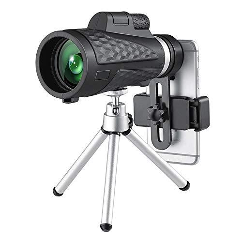 GAOXIAOMEI Telescopio monocular 18X62 Alta Potencia Gran Aumento Visión Nocturna Monoculares portátiles Impermeable A Prueba de Niebla A Prueba de Golpes Prisma BAK4 para Caza Camping Senderismo