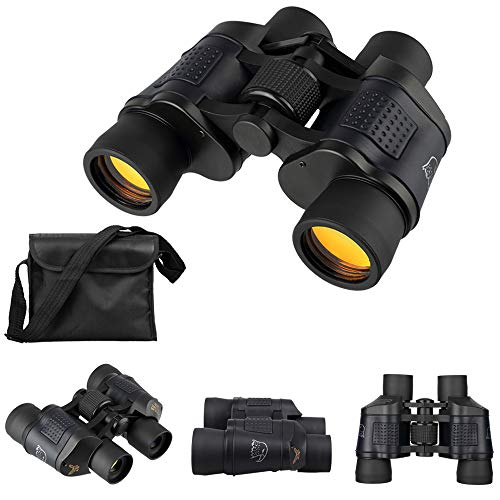 Mbuynow Fernglas 60X60 hochauflösendes wasserdichtes Fernglas mit Handyadapter für Vogelbeobachtung, Jagd, Camping, Fußballspiele und Konzerte