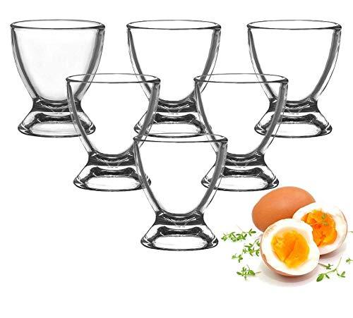 Sendez Eierbecher aus Glas Eierständer Eierhalter Glaseierbecher 6-12-tlg. (12 Stück)