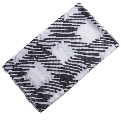 UNJ Bufandas largas para Mujer, Chal de Lino y algodón, Bufanda para la Cabeza para Mujer, líneas, Estampado a Cuadros, Invierno cálido,FS491 2,180CM X 80CM
