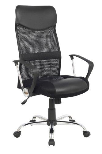 SixBros. Sedia da Ufficio, Sedia da scrivania, Sedia da Ufficio Girevole, Altezza Regolabile, con braccioli, Nera - 139PM/1319