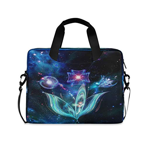Space Bouquet Galaxy Laptop Case 15.6 Inch Computer Carrying Protective Case with Strap Bag