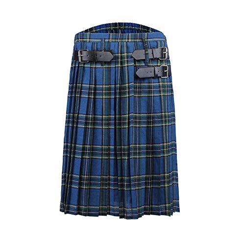 Falda Escocesa Escocesa para Hombre, Falda Escocesa, Falda a Cuadros, Pantalones Cortos, Falda Escocesa Tradicional gótica para Hombre, Faldas escocesas, Pantal