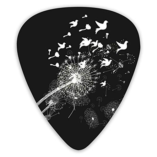 Palillos de guitarra con diseño de flores de semillas de diente de...