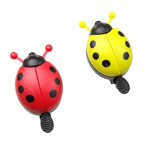 YUHUANG Cute Bike Bell Ladybug Shape Bicycle Bell Bicycle Horn Best Gift Suitable for Girls and Boys Kids Bike Accessories 2 Pack (Color : 2 PCS)