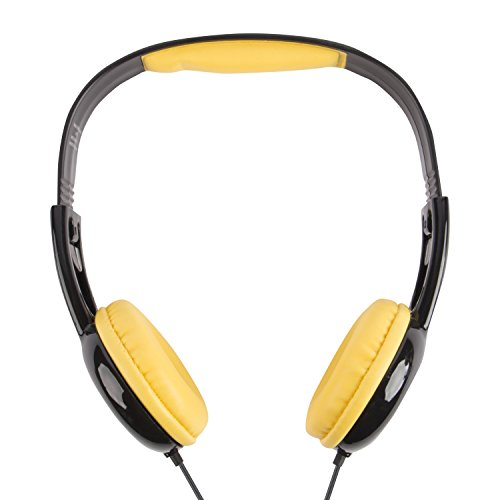 Batman Kids Safe Over The Ear Headphones HP2-03082 | Kids Headphones, Volume Limiter for Developing Ears, 3.5MM Stereo Jack, Recommended for Ages 3-9, by Sakar