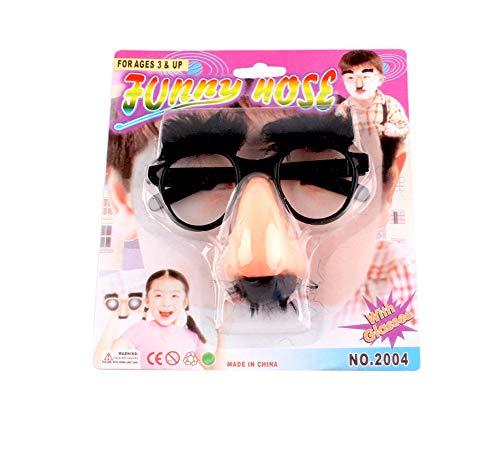 Leezo - Gafas clsicas para disfraz, con divertidas cejas y bigote