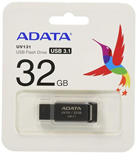 ADATA Classic UV131 USB3.0 Flash Drive 32GB, Gray (AUV131-32G-RGY)